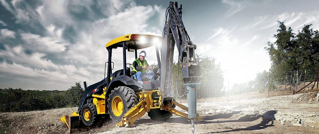 Hydraulic-breaker-with excavator and backhoe